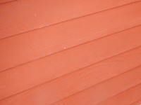 stained cedar siding