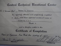 Central Technical Vocational Center 22.5 hours Plumbing Classes