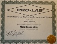 Pro-Lab Mold Certification