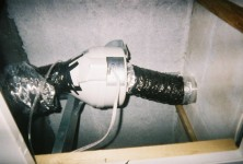 horizontal radon fan improper installation