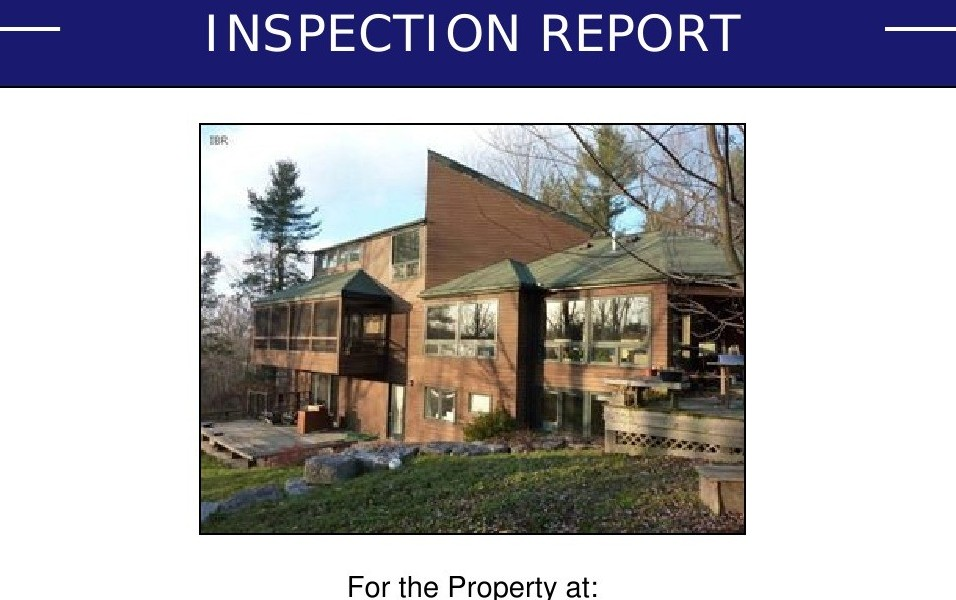 A Best Home Inspection Report